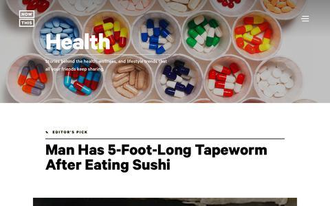 Screenshot of nowthisnews.com - Health: Wellness & Lifestyle Trends News & Videos - NowThis - captured Jan. 22, 2018