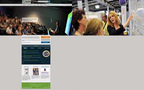 Screenshot of Menu Page iasp-pain.org - International Association for the Study of Pain (IASP) - captured Sept. 19, 2014