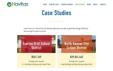 Screenshot of Case Studies Page navitas.us.com - Case Studies – Navitas - captured Nov. 6, 2017