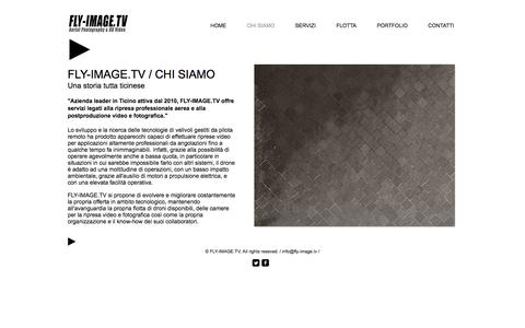 Screenshot of About Page fly-image.tv - FLY-IMAGE.TV - Aerial Photography & HD Video | CHI SIAMO - captured Nov. 24, 2016