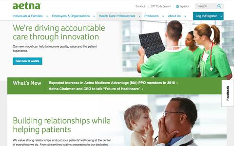 Health Care Professionals | Aetna