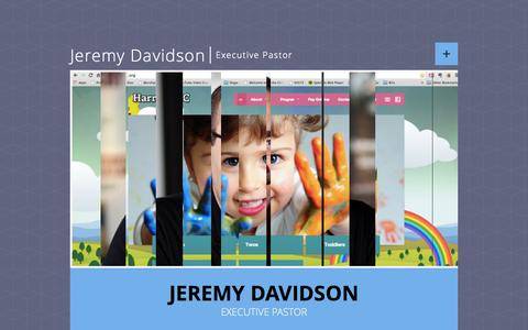 Screenshot of Home Page jeremydavidson.org - Jeremy Davidson - captured Oct. 6, 2014