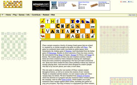 Screenshot of Home Page chessvariants.org - Home page of The Chess Variant Pages - captured Sept. 19, 2014