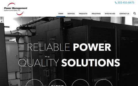 Screenshot of Home Page pmssinc.com - Power Management Company | Power Management Systems & Sales - captured Nov. 10, 2016