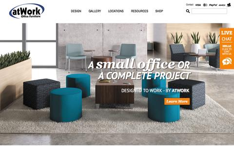 Screenshot of Home Page atwork.ca - Office Furniture | Office Furniture Ontario, Cananda | atWork.ca - captured Sept. 10, 2015
