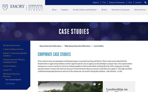 Screenshot of Case Studies Page emory.edu - Corporate Case Studies | Executive Education Program - Emory - captured July 8, 2018