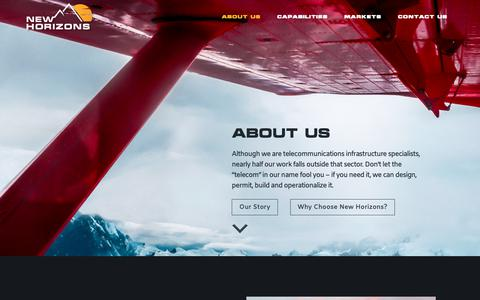 Screenshot of About Page nhtiusa.com - About Us - New Horizons Telecom, Inc. - captured Oct. 19, 2018