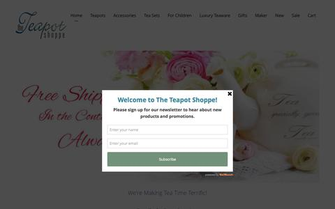 Screenshot of Home Page theteapotshoppe.com - Teapot & Teasets Best Collection by The Teapot Shoppe, Inc - captured Aug. 15, 2016