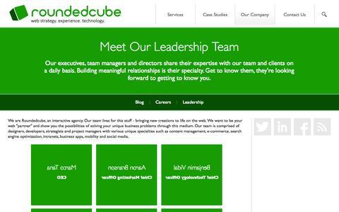 Screenshot of Team Page roundedcube.com - Leadership - Roundedcube - captured Oct. 9, 2014