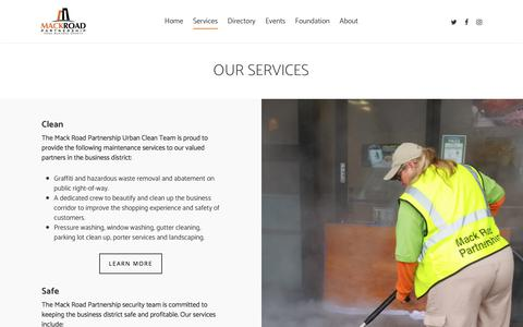 Screenshot of Services Page mackroadpartnership.com - Our Services - Mack Road Partnership - captured July 27, 2018