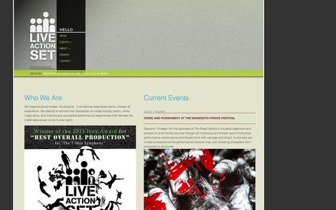 Screenshot of Support Page liveactionset.org - Contact and Book Live Action Set - captured Sept. 30, 2014