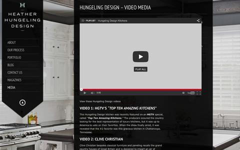 Screenshot of Press Page luxurykitchendesigner.com - Luxury Kitchen Designer   Hungeling Design   Hungeling Design - Media: HGTV, Trends, Beautiful Kitchens and more - captured Feb. 2, 2016