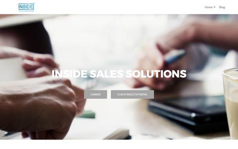 Screenshot of Home Page isaless.com - Inside Sales Solutions - - captured Oct. 15, 2017