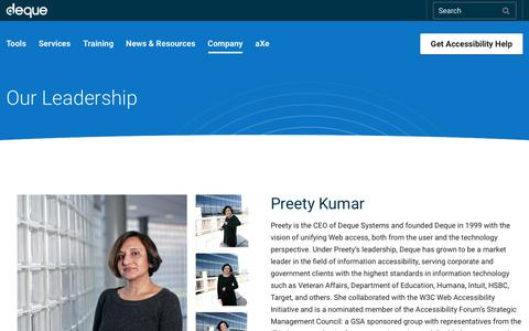 Screenshot of Team Page deque.com - Our Team - Deque - captured March 21, 2018