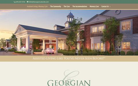 Screenshot of Home Page georgianlakeside.com - The Georgian Lakeside Assisted Living & Memory Care | Assisted Living Like You've Never Seen Before! (sm) - captured Feb. 15, 2016