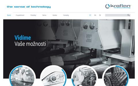 Screenshot of Home Page krofian.cz - Krofian - captured Feb. 12, 2016
