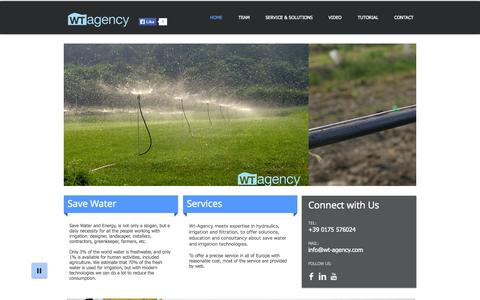Screenshot of Home Page wt-agency.com - Wt Agency - captured Sept. 30, 2014