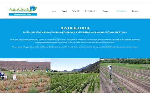Screenshot of Locations Page aquacheck.co.za - Leading Brand in Water Management Equipment Solutions l AquaCheck - captured Oct. 24, 2018