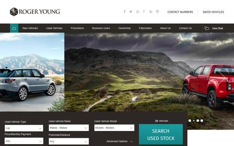 Screenshot of Home Page rogeryoung.co.uk - New & Used Cars Dealers | Saltash, Cornwall | Roger Young - captured Feb. 10, 2016