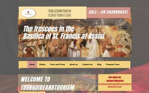 Screenshot of Home Page tourguideandtourism.com - Guided tour in Florence and Umbria | Florence | Tourguideandtourism - captured Oct. 10, 2018