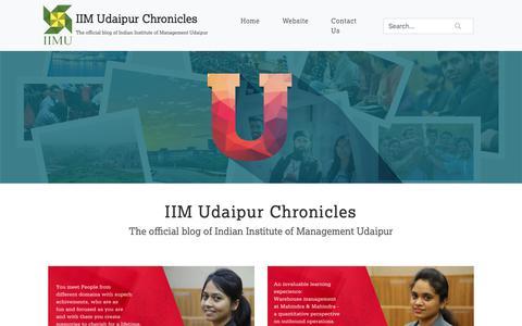 Screenshot of Blog iimu.ac.in - Home - IIMU BLOG - captured Oct. 11, 2018