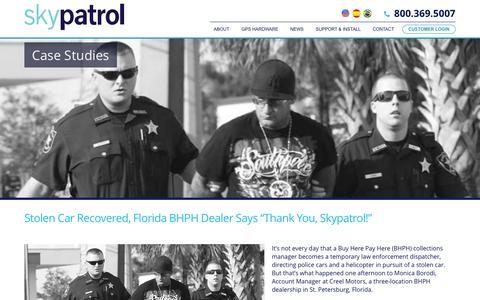 Screenshot of Case Studies Page skypatrol.com - Case Studies | Skypatrol - GPS TRACKING SOLUTIONS - captured Nov. 13, 2015