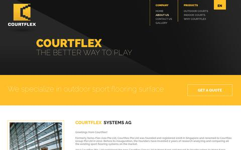 Screenshot of About Page courtflex.com - About us - Courtflex - captured Nov. 13, 2016