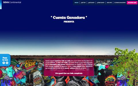 Screenshot of Home Page cuentaganadora.com.pe - CUENTA GANADORA | Banco BBVA Continental | - captured Jan. 26, 2015