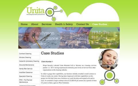 Screenshot of Case Studies Page unitamaintain.co.uk - Case Studies - captured Feb. 26, 2016