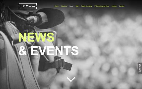 Screenshot of Press Page ipcom-munich.com - IPCom | IP Consulting Company | News - captured Nov. 28, 2018