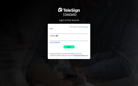 TeleSign Portal - Login