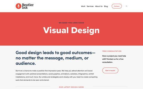 Screenshot of Services Page beutlerink.com - Visual Design — Beutler Ink - captured Aug. 2, 2018