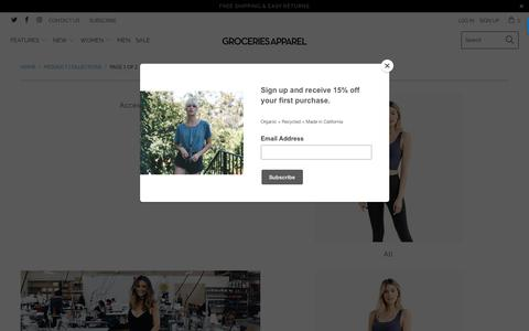 Screenshot of Products Page groceriesapparel.com - Collections - Groceries Apparel - captured Nov. 5, 2018
