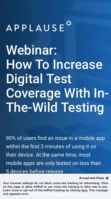 Webinar: How To Increase Digital Test Coverage With In-The-Wild Testing