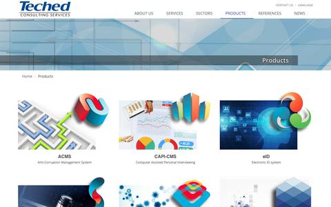 Screenshot of Products Page teched.hr - Products | Teched Consulting Services - captured Oct. 18, 2018