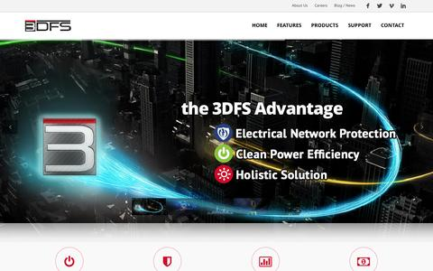 Screenshot of Home Page 3dfs.com - 3DFS Power Solutions | Power Through Efficiency - captured Oct. 7, 2014