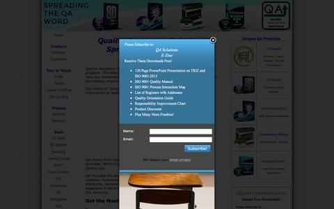 Screenshot of Home Page quality-assurance-solutions.com - Quality Assurance Solutions, Spreading the QA Word - captured July 20, 2018
