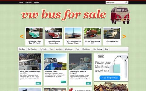 Screenshot of Blog vwbussale.com - VW Bus: Blog - captured Nov. 2, 2014
