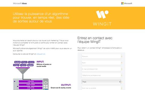 Screenshot of Landing Page microsoft.com - Contact WingiT - captured April 5, 2016