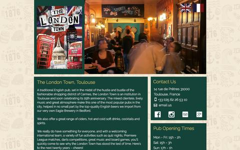 Screenshot of Home Page londontownpub.fr - The London Town English Pub - Toulouse France - captured March 3, 2018