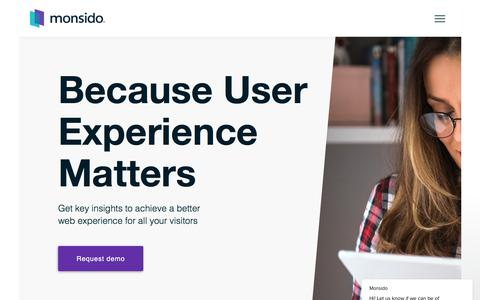 Screenshot of Home Page monsido.com - Monsido says… - captured Sept. 19, 2018
