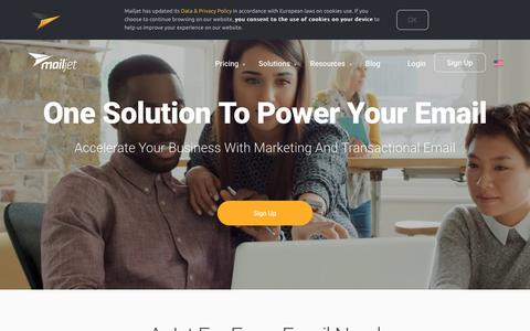 Screenshot of Home Page mailjet.com - Power Your Email Marketing - Mailjet - captured Feb. 1, 2017