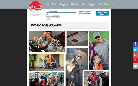 Screenshot of Jobs Page wayfm.com - WAY-FM   » Careers - captured Nov. 27, 2016