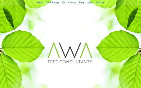 Screenshot of Home Page awatrees.com - AWA Tree Consultants, Arboriculturist Tree Surveys, Yorkshire & UK - captured Oct. 4, 2014