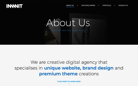 Screenshot of About Page innwit.com - About Us – Innwit - captured Nov. 6, 2018