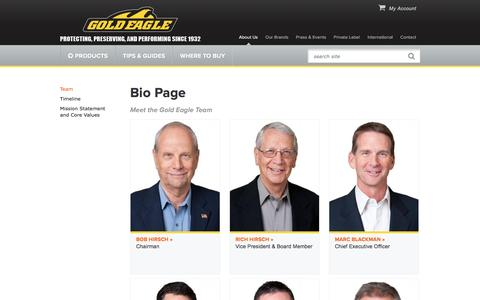 Screenshot of Team Page goldeagle.com - Bio Page | Gold Eagle - captured Aug. 28, 2016