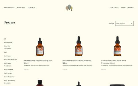 Screenshot of Products Page badaro.co.nz - Products                      – Badaro Beautiful Hair - captured Dec. 9, 2018