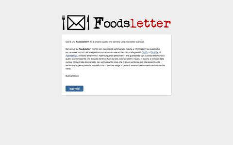 Screenshot of Home Page foodsletter.com - foodsletter newletter list start - captured Aug. 16, 2018