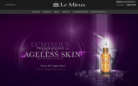 Screenshot of Home Page lemieuxcosmetics.com - Le Mieux Cosmetics - captured Sept. 29, 2014