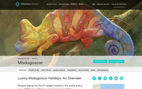 Luxury Holidays Madagascar | Beach & Wildlife Holidays